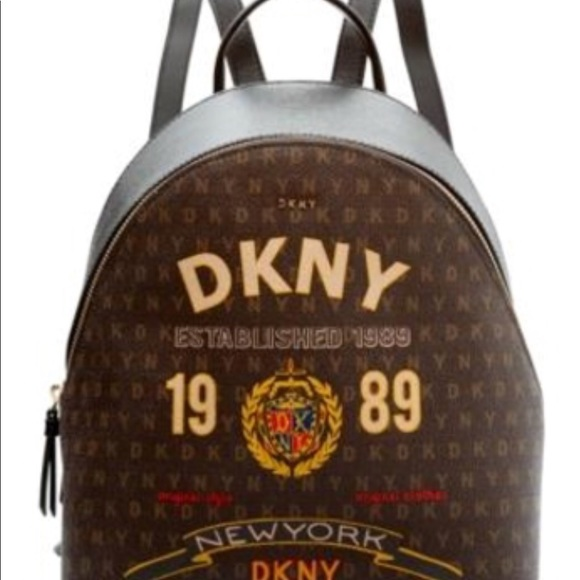 newest collection delicate colors compare price ISO of this DKNY scarf print backpack